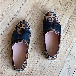 Kate side delise Leopard-print Bow Slip-on size 7